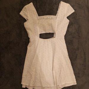 H&M White Mini Dress